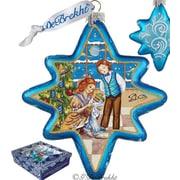 G Debrekht Holiday Nutcracker North Star Glass Ornament