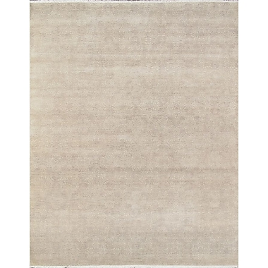 Pasargad Hand-Knotted Wool and Rayon from Bamboo Silk Area Rug; Square 9'