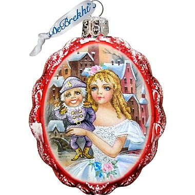 G Debrekht Keepsake Nutcracker Glass Ornament