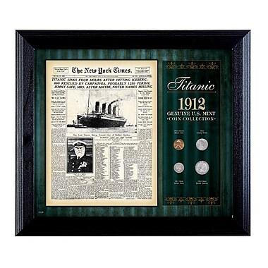 American Coin Treasure New York Times Titanic 1912 U.S. Mint Framed Memorabilia