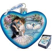 G Debrekht Holiday Treasure of Love Heart Glass Ornament