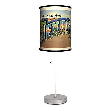 Lamp-In-A-Box Travel Texas Postcard 20'' Table Lamp