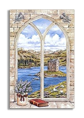 Stupell Industries Arch Window & Book Faux Window Scene Wall Plaque