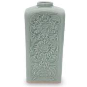 Novica Blue Sky Lotus Vase