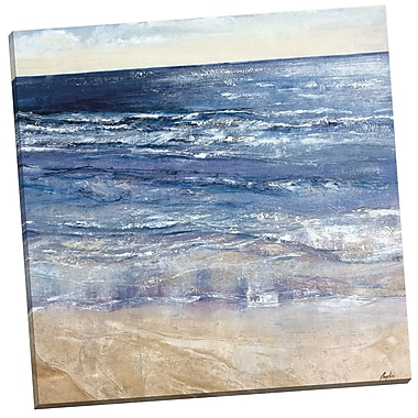 Portfolio Canvas Sapphire Ocean Square by Angellini Painting Print on Wrapped Canvas