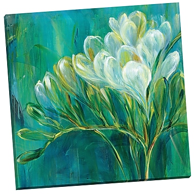 Portfolio Canvas Freesia Blues I by Carson Painting Print on Wrapped Canvas