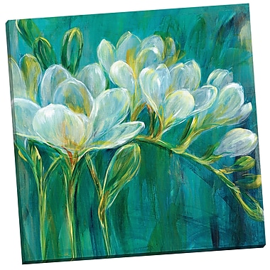 Portfolio Canvas Freesia Blues II by Carson Painting Print on Wrapped Canvas