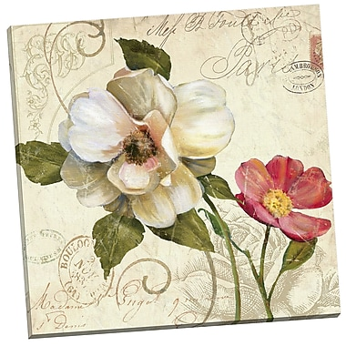 Portfolio Canvas Fleurs de Paris 1 by E. Franklin Graphic Art on Wrapped Canvas
