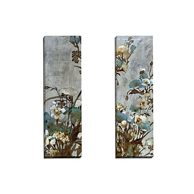 Portfolio Canvas Floral in Silver I by Citrine 2 Piece Painting Print on Wrapped Canvas Set
