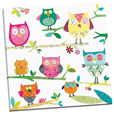 Portfolio Canvas Tracks Owls by Liz and Kate Pope Painting Print on Wrapped Canvas
