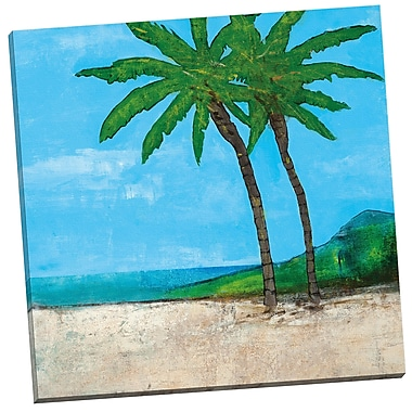 Portfolio Canvas Vacation Beach by Vivian Canbelle Painting Print on Wrapped Canvas