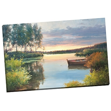 Portfolio Canvas Fading Light by Alex Wang Painting Print on Wrapped Canvas