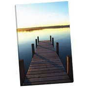 Portfolio Canvas The Pier by Ilona Wellmann Phographic Print on Wrapped Canvas