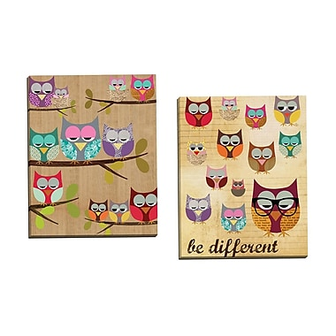 Portfolio Canvas Be Different by Claudia Schoen 2 Piece Graphic Art on Wrapped Canvas Set