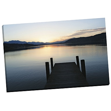 Portfolio Canvas Dock at Twilight by Ilona Wellmann Photographic Print on Wrapped Canvas
