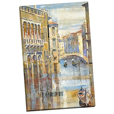 Portfolio Canvas Canal by Michael Longo Painting Print on Wrapped Canvas