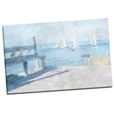 Portfolio Canvas Dockside View by Noah Bay Painting Print on Wrapped Canvas