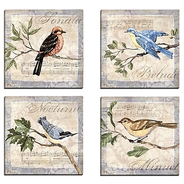 Portfolio Canvas Allegro Songbird I by Paul Brent 4 Piece Graphic Art on Wrapped Canvas Set