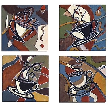 Portfolio Canvas Abstract Coffee I by Tara Gamel 4 Piec Painting Print on Wrapped Canvas Set