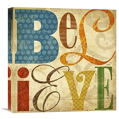 Global Gallery Believe by Suzanna Anna Graphic Art on Wrapped Canvas; 18'' H x 18'' W x 1.5'' D