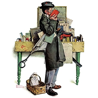 Marmont HIll 'Bookworm' by Norman Rockwell Painting Print on Wrapped Canvas; 52'' H x 40' W
