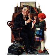 Marmont HIll 'Doctor And The Doll' by Norman Rockwell Painting Print on Wrapped Canvas