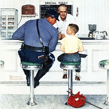 Marmont HIll 'Runaway' by Norman Rockwell Painting Print on Wrapped Canvas; 40'' H x 40'' W