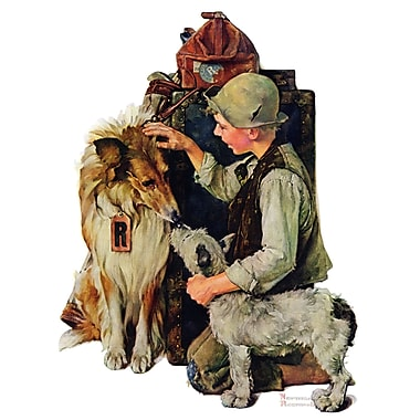 Marmont HIll 'Raleigh Rockwell' by Norman Rockwell Painting Print on Wrapped Canvas; 52'' H x 40'' W