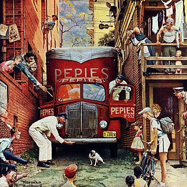 Marmont HIll 'Road Block' by Norman Rockwell Painting Print on Wrapped Canvas; 32'' H x 32'' W