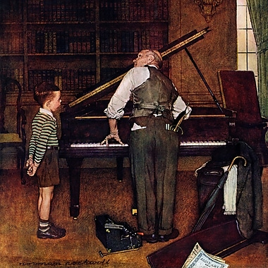 Marmont HIll 'Piano Tuner' by Norman Rockwell Painting Print on Wrapped Canvas; 40'' H x 40'' W