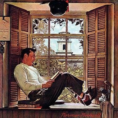 Marmont HIll 'Willie Gillis In College' by Norman Rockwell Painting Print on Wrapped Canvas
