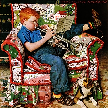 Marmont HIll 'Trumpeter' by Norman Rockwell Painting Print on Wrapped Canvas; 18'' Hx 18'' W