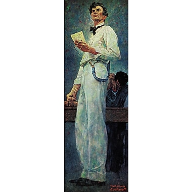 Marmont HIll 'Lincoln For The Defense' by Norman Rockwell Painting Print on Wrapped Canvas