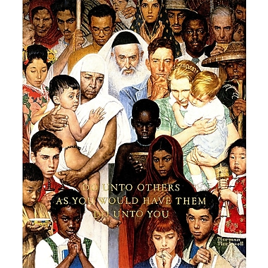 Marmont HIll 'Golden Rule' by Norman Rockwell Painting Print on Wrapped Canvas; 48'' H x 40'' W