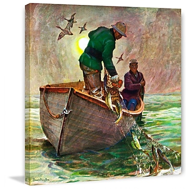 Marmont HIll Fishing w/ Nets by Mead Schaeffer Painting Print on Wrapped Canvas