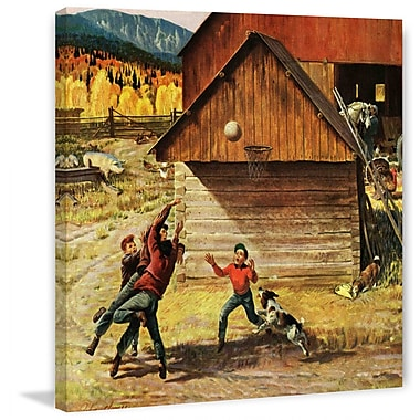 Marmont HIll Ranch Basketball by John Clymer Painting Print on Wrapped Canvas
