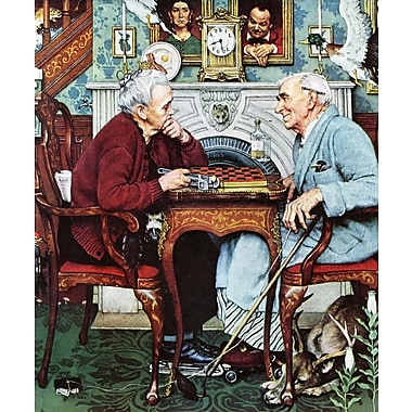Marmont HIll 'April Fool, 1943' by Norman Rockwell Painting Print on Wrapped Canvas; 36'' H x 30'' W