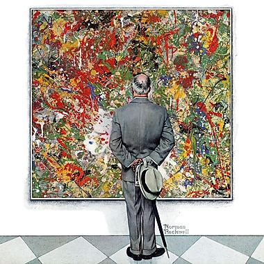 Marmont HIll 'Art Connoisseur' by Norman Rockwell Painting Print on Wrapped Canvas; 24'' H x 24'' W