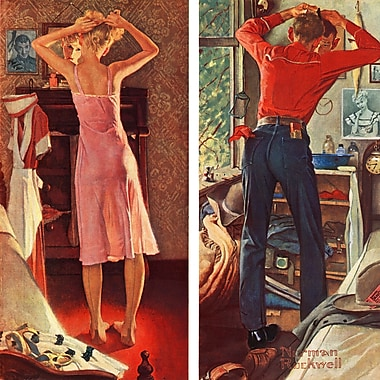 Marmont HIll 'Before The Date' by Norman Rockwell Painting Print on Wrapped Canvas; 18'' H x18'' W