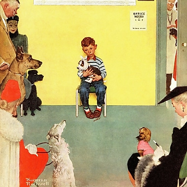 Marmont HIll 'At The Vets' by Norman Rockwell Painting Print on Wrapped Canvas; 48'' H x 48'' W