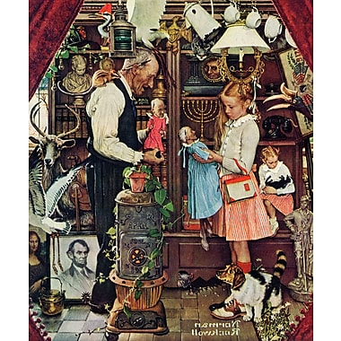 Marmont HIll 'April Fool, 1948' by Norman Rockwell Painting Print on Wrapped Canvas; 29'' H x 24' W