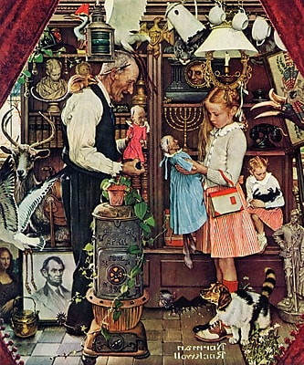 Marmont HIll 'April Fool, 1948' by Norman Rockwell Painting Print on Wrapped Canvas; 36'' H x 30'' W