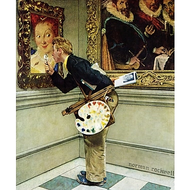 Marmont HIll 'Art Critic' by Norman Rockwell Painting Print on Wrapped Canvas; 29'' H x 24' W