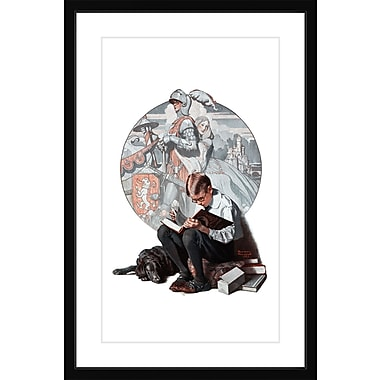 Marmont HIll 'Age Of Romance' by Norman Rockwell Framed Painting Print; 24'' H x 16'' W x 1.5'' D