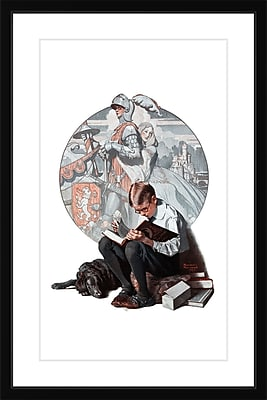 Marmont HIll 'Age Of Romance' by Norman Rockwell Framed Painting Print; 18'' H x 12'' W x 1.5'' D