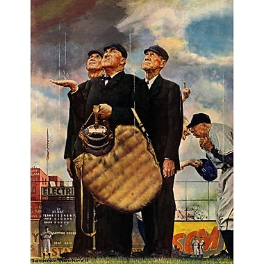 Marmont HIll 'Bottom Of The Sixth' by Norman Rockwell Painting Print on Wrapped Canvas
