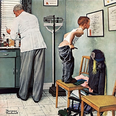 Marmont HIll 'Before The Shot' by Norman Rockwell Painting Print on Wrapped Canvas; 40'' H x 40'' W