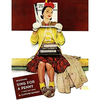 Marmont HIll 'Cover Girl' by Norman Rockwell Painting Print on Wrapped Canvas; 52'' H x 40'' W