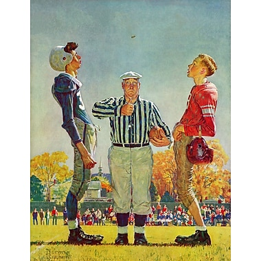 Marmont HIll 'Coin Toss' by Norman Rockwell Painting Print on Wrapped Canvas; 31'' H x 24'' W