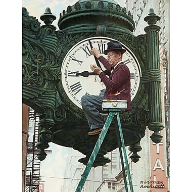 Marmont HIll 'Clock Repairman' by Norman Rockwell Painting Print on Wrapped Canvas; 31'' H x 24'' W